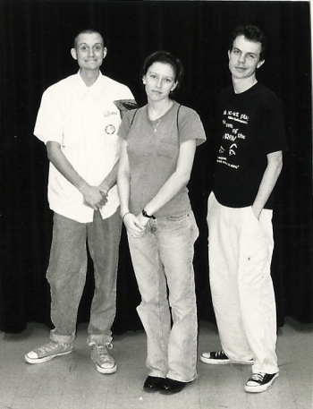 1999 Lee HS yearbook pic for Playwrights & Players officers