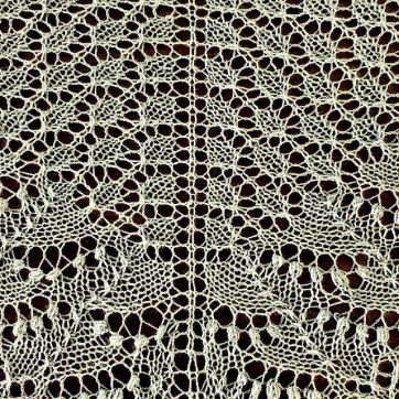 Embroidering lace (image provided by Kate Caldwell)