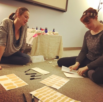 Genevieve and Kate at the Art of the Heart workshop