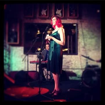 Amber in Cabernet Cabaret singing Too Darn Hot