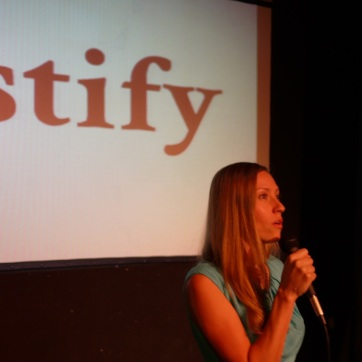 Angelica performing in Testify
