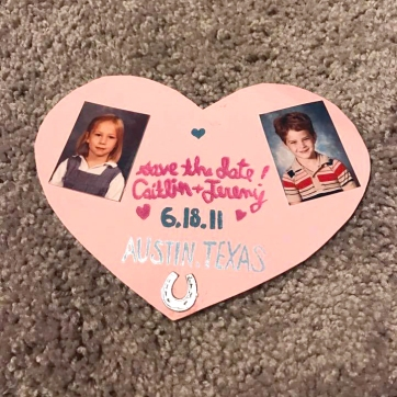 Caitlin's save the date
