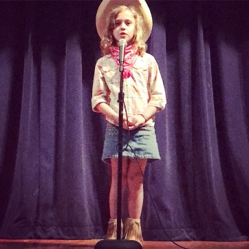 Eloise at the talent show
