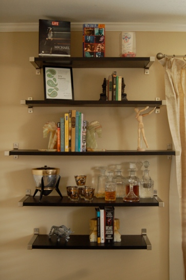 Shelves in the office (photo by Casey Kopecky)
