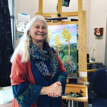 Sharon Loy Anderson at an art show