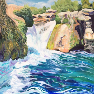 Dolan Falls on the Devil's River by Sharon Loy Anderson