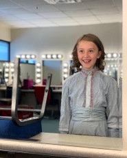 Eloise at a costume fitting for A Doll's House