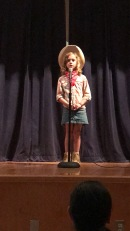 Eloise singing Clementine for a talent show