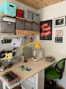 Jen Grudza's sewing room