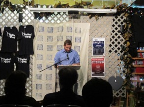 Ryan Dilbert reading in Grand Coteau, Louisiana