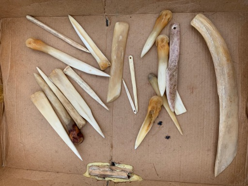 Neal Stilley's bone tools
