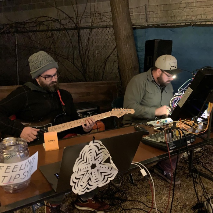 Sean Henry and Matt Norton playing at a Winter Solstice get together