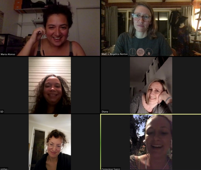Handbag Hangout during the podcast